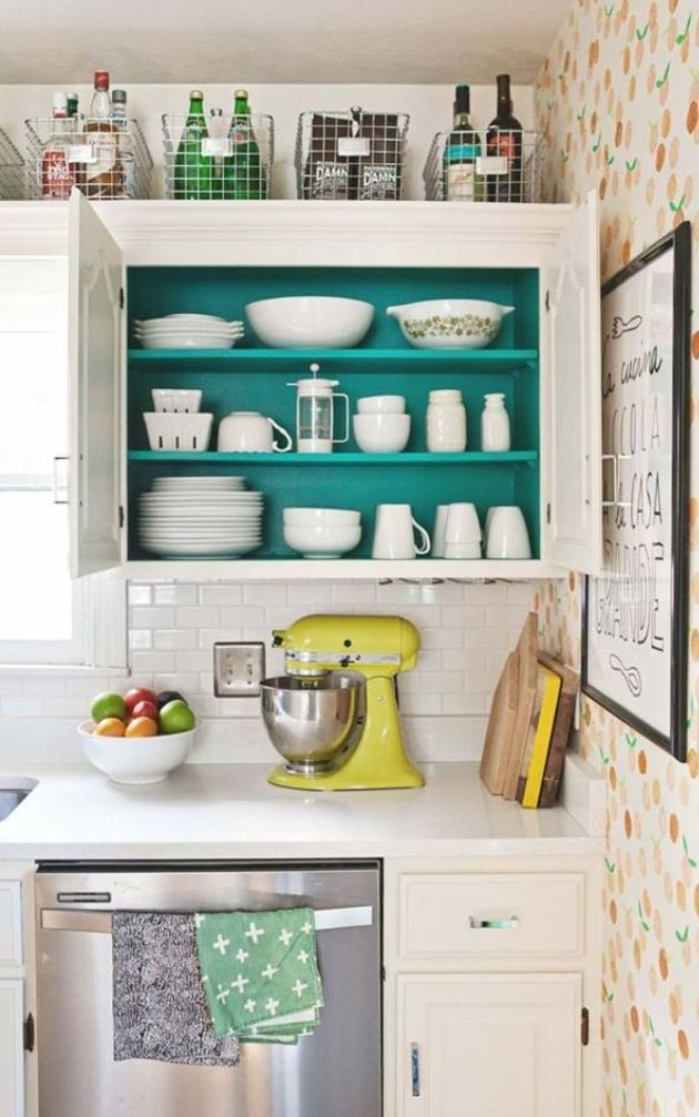Open Upper Cupboards In The Kitchen Contact Paper Inside