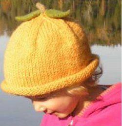 Toddler's Knit Pumpkin Hat   AllFreeKnitting.com