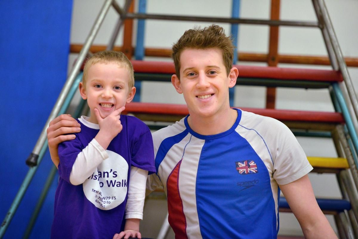 GB diver puts pupils through their paces for Ryan A top diver put youngsters through their paces as they raised money so a fellow pupil can undergo life-changing surgery. http://just4children.org/news/gb-diver-pupils-through-their-paces-for-ryan/