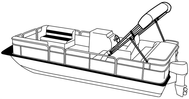 Image result for drawing of pontoon boat