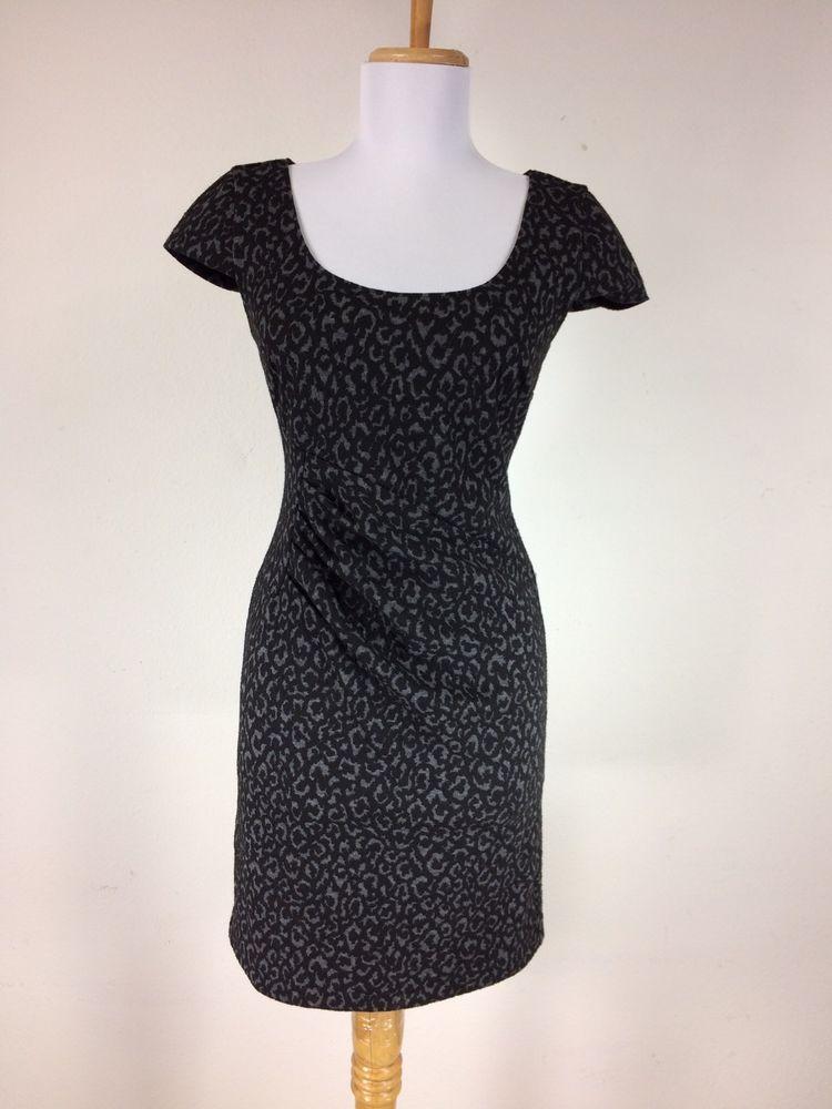 Size 0 black dress zebra