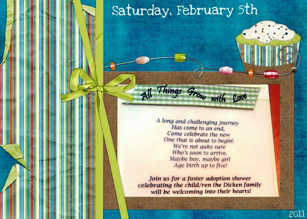 foster/adoption shower! this is really sweet. i think a shower is, Party invitations