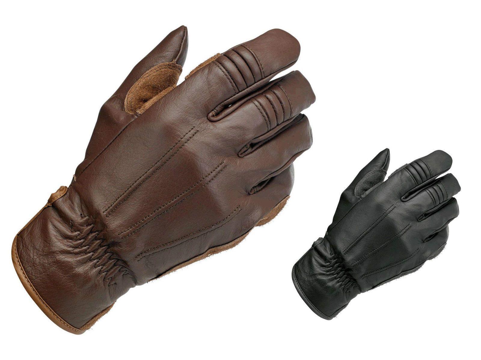 Motorcycle gloves cruiser - Biltwell Work Leather Cruiser Custom Cafe Racer Retro Motorcycle Gloves