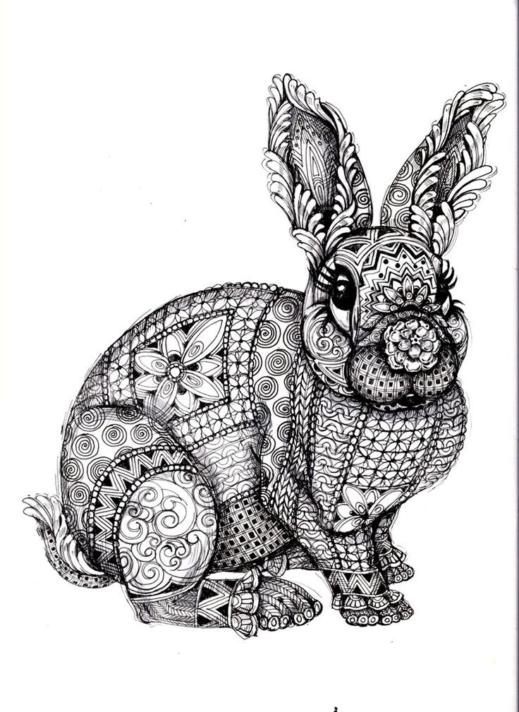 To Print This Free Coloring Page Coloring Adult Difficult Rabbit Click On The Printer Icon At The Right Animal Coloring Pages Mandala Coloring Pages Mandala Coloring