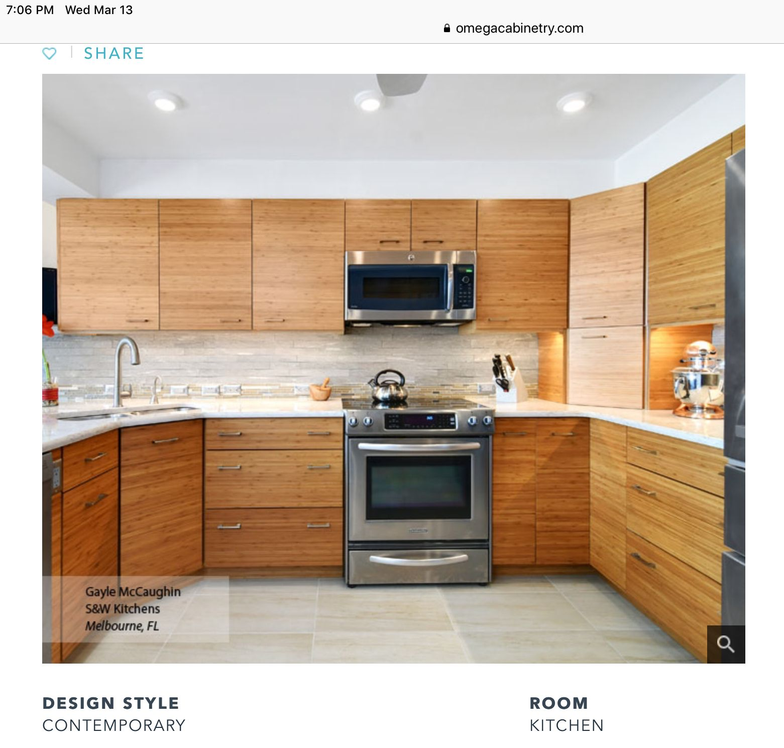 Cabinet Refacing Home Depot: Bamboo Kitchen Cabinets In 2019