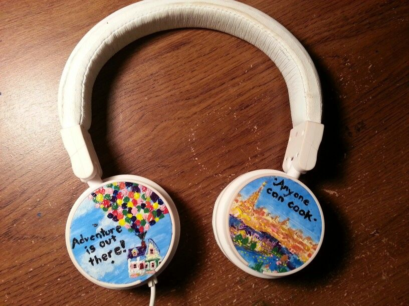 Diy Customized Headphones Pixar Inspired Ratatouille Up Anyone Can Cook Adventure Is Outthere White Acrylic Paint