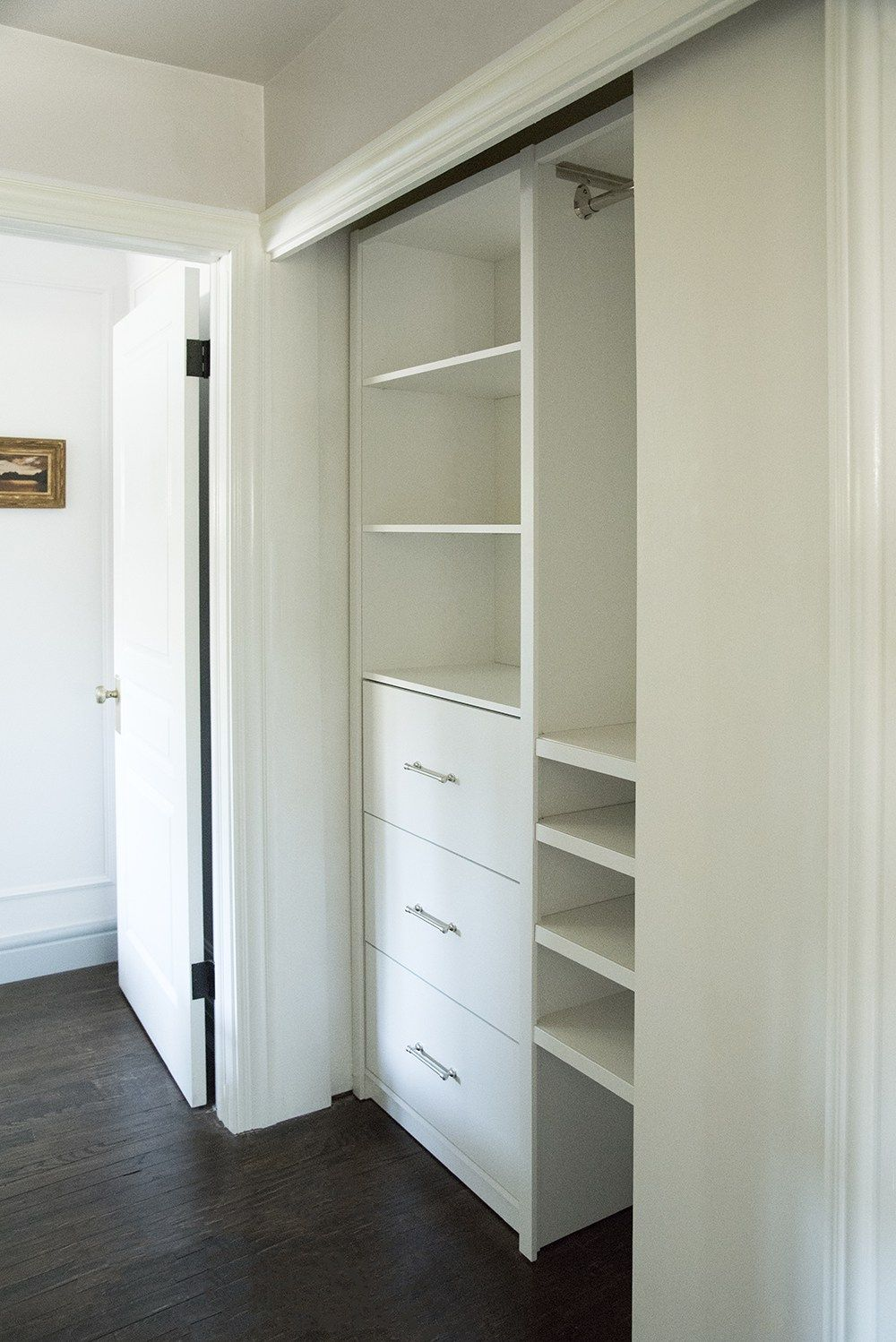 The Final Hall Closet Reveal Room For Tuesday Blog Hall Closet Hallway Closet Closet Design