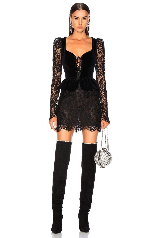 Dundas Lace Velvet Long Sleeve Corset Mini Black Dress We Select Dresses Mini Black Dress Long Sleeve Lace Mini Dress Corset Mini Dress [ 1440 x 953 Pixel ]