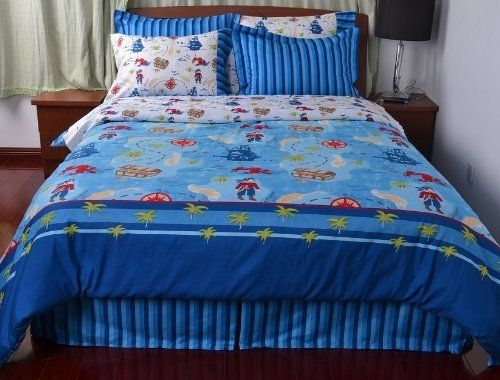 Chezmoi Collection 4 Piece Saba Pirate Treasure Duvet Cover Set Queen Size Http Www Amazon Com Dp B00desxpaw Duvet Cover Sets White Comforter Duvet Bedding