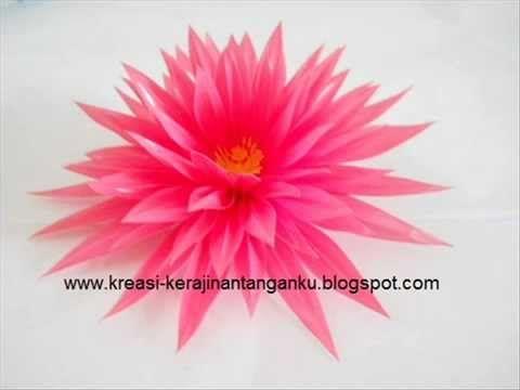 Membuat Bunga Teratai Dari Sedotan Bunga Teratai Bunga Teratai