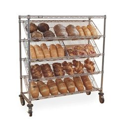 Slanted Wire Shelving Units Five Tier Merchandiser Nexel Wire Shelving Wire Shelving Units Shelving