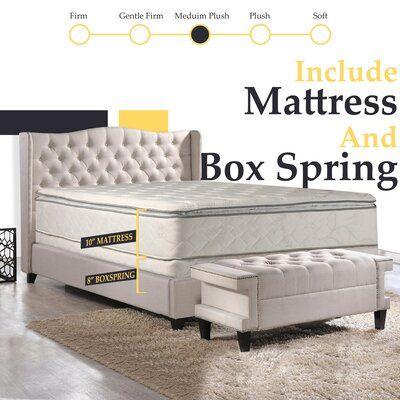 Alwyn Home Apollonia 10 Medium Pillow Top Mattress And Box Spring