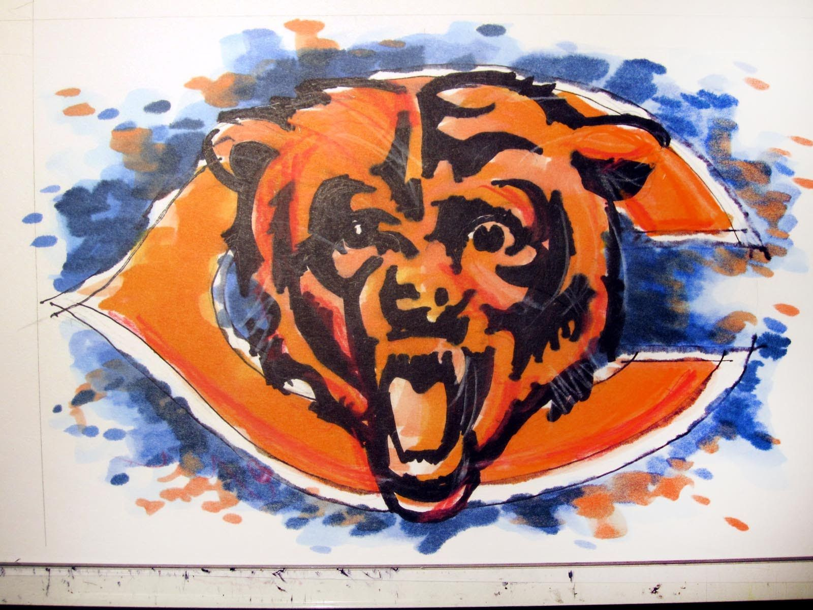 Chicago sports series chicago bears football logo time