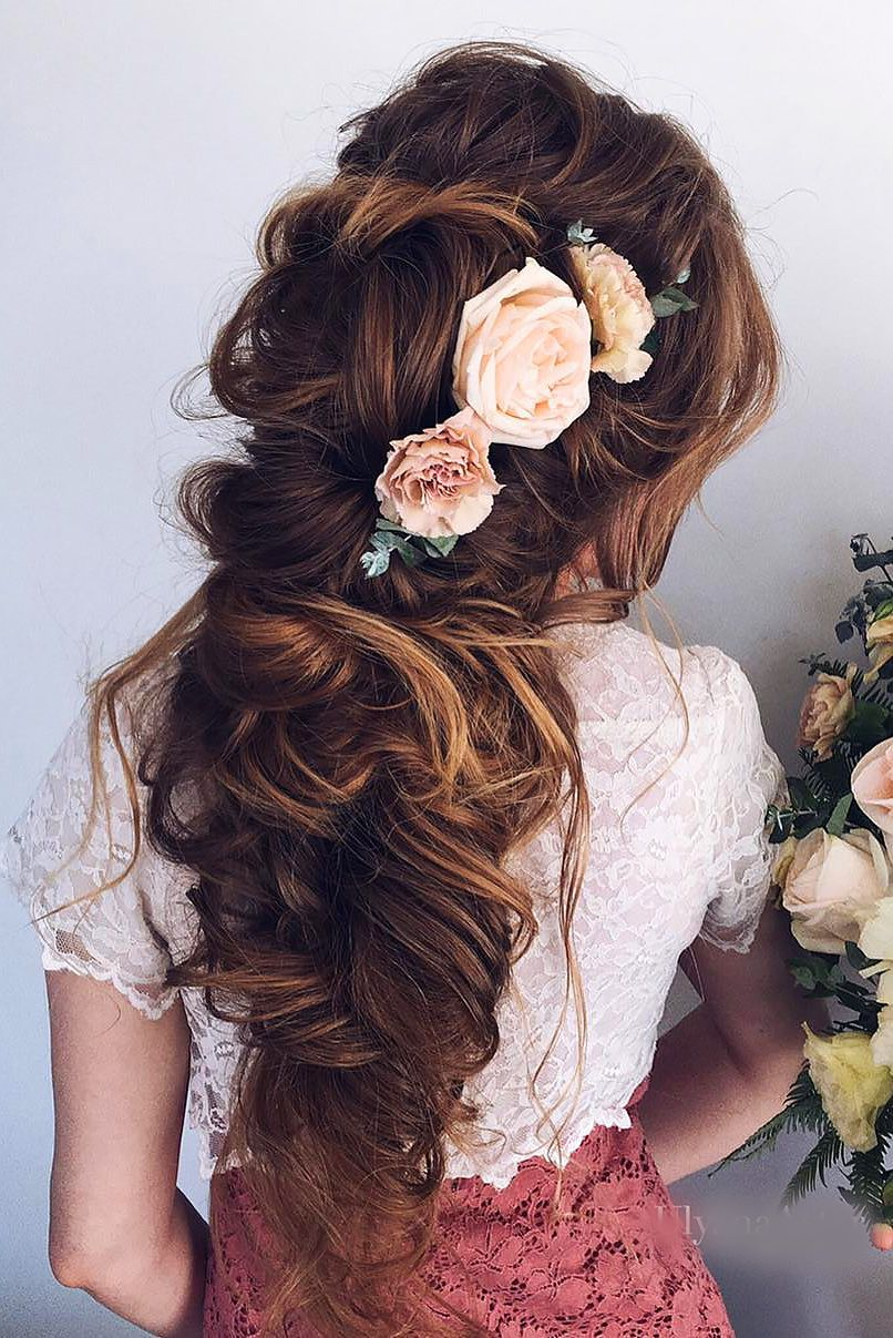 Hairstyles For Weddings 42 Boho Inspired Unique And Creative Wedding Hairstyles  Unique