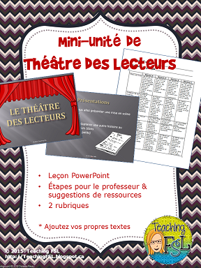 Mini Unite Theatre Des Lecteurs La Langue Teaching French