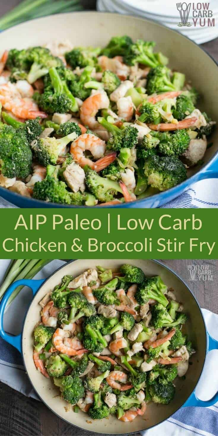 Chicken and Shrimp Stir-Fry with Broccoli | Low Carb Yum