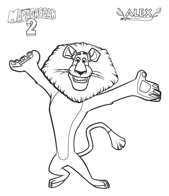 Nothing Found For Madagascar Coloring Pages Alex Madagaskar Ausmalbilder Ausmalen