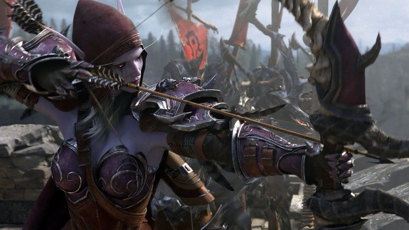 Sylvanas Windrunner Bow Arrow World Of Warcraft Battle For