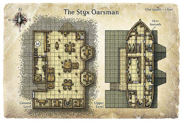 RPG Resource of the Day: 25 Inn and Tavern Maps | 室内 | Jdr、Carte on