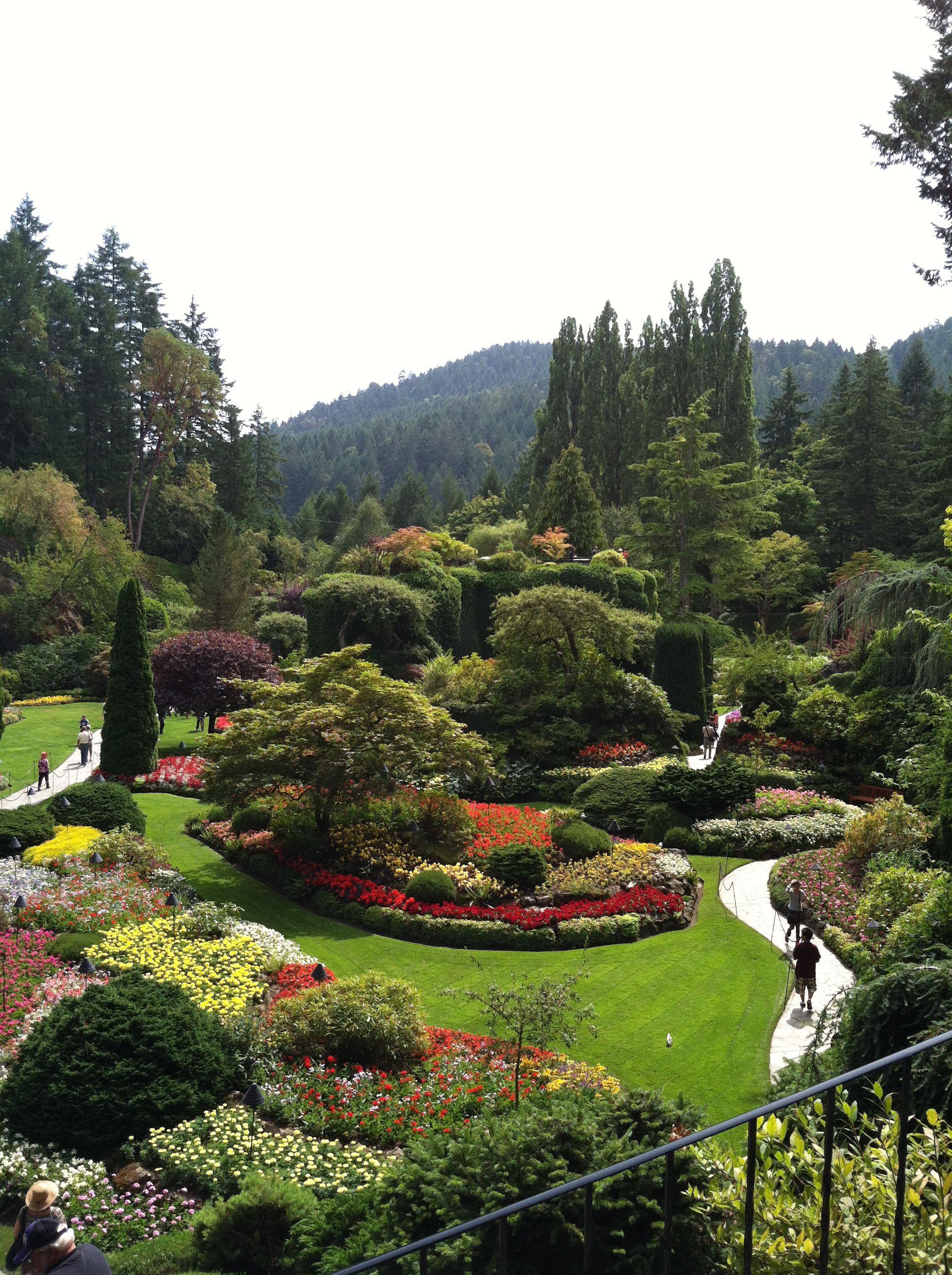 Sunken Garden in Buchart Gardens, Victoria, B.C