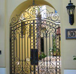 decorative entry gate.