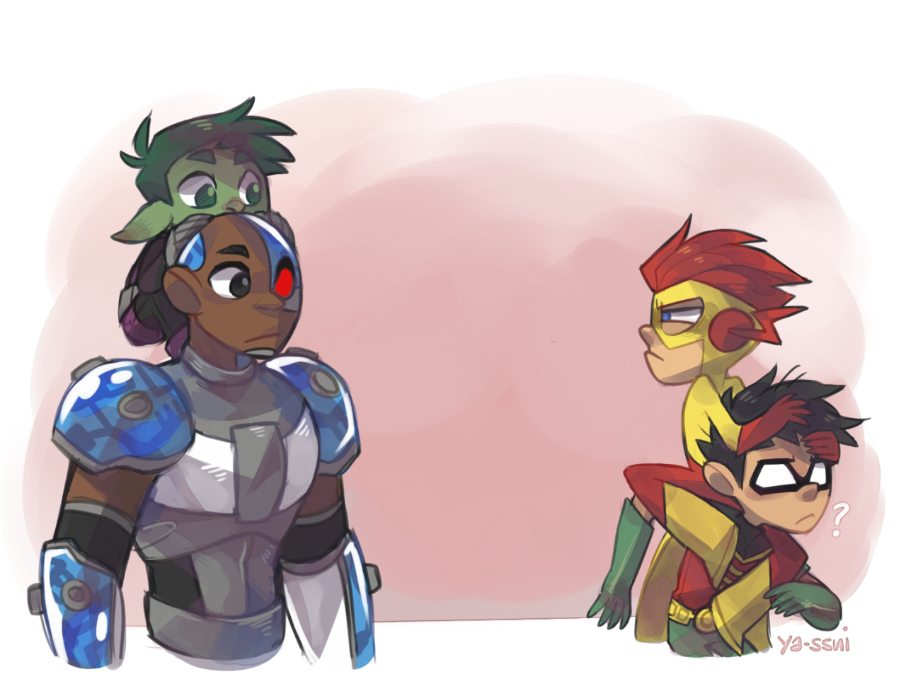 Youth Boys Teen Titan Go Tee Beast Boy Cyborg Robin