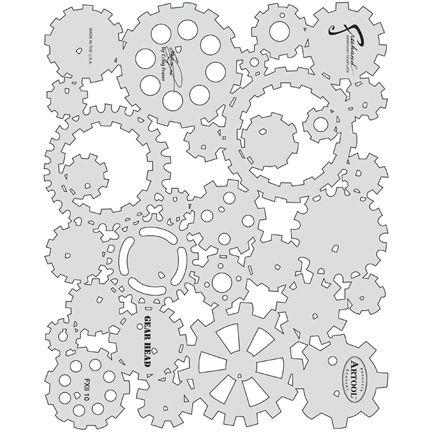 Airbrush Template: Gear Head | Airbrush ideas | Pinterest ...