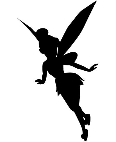 Tinkerbell Svg Fairy Silhouette Disney Princess Silhouette Stencil Street Art