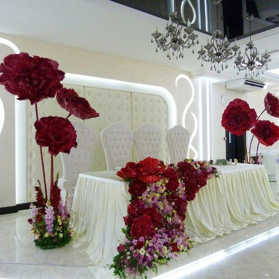 Pin de erika guzm n en boda pinterest flores de papel for Decoracion de licenciatura