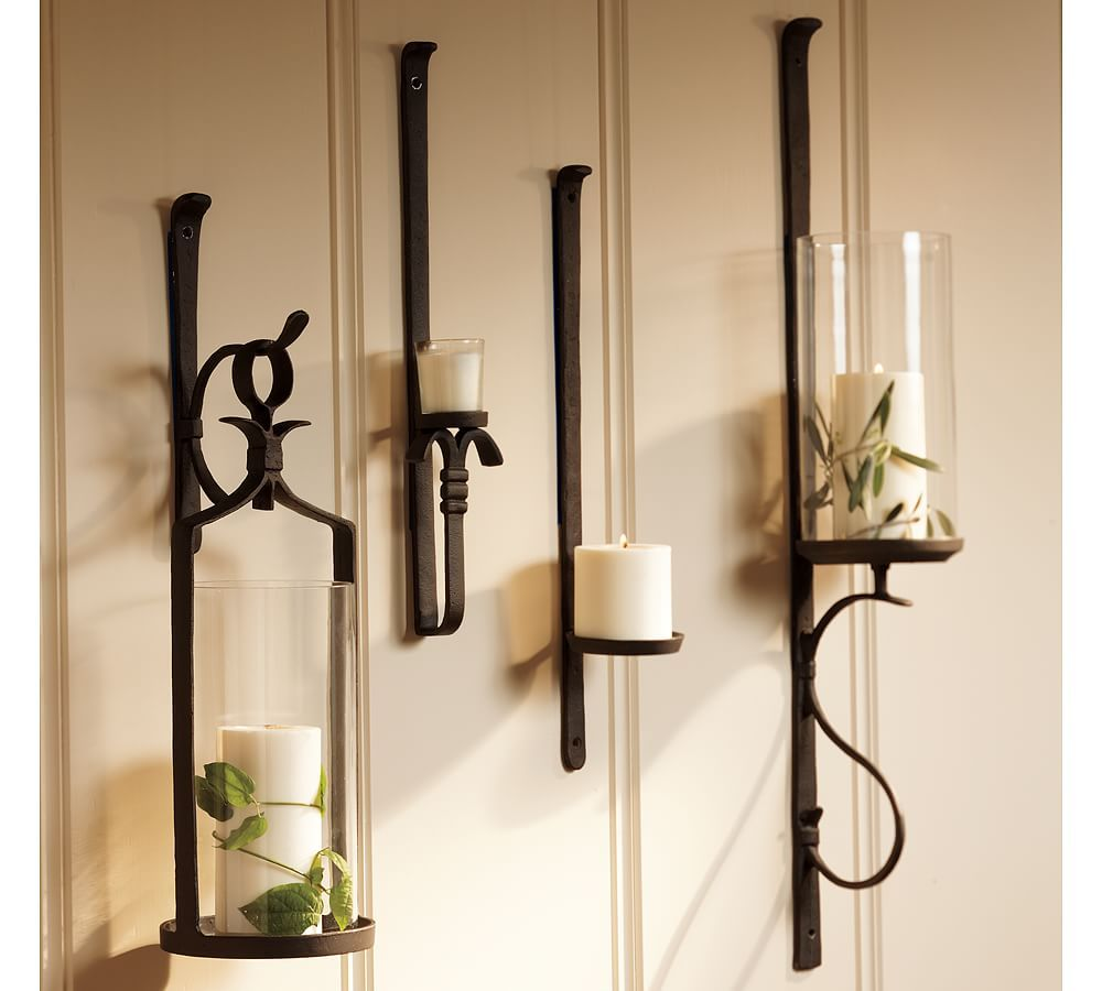 Wall Vases And Pottery Barn Candle Sconce Candle Sconces Living