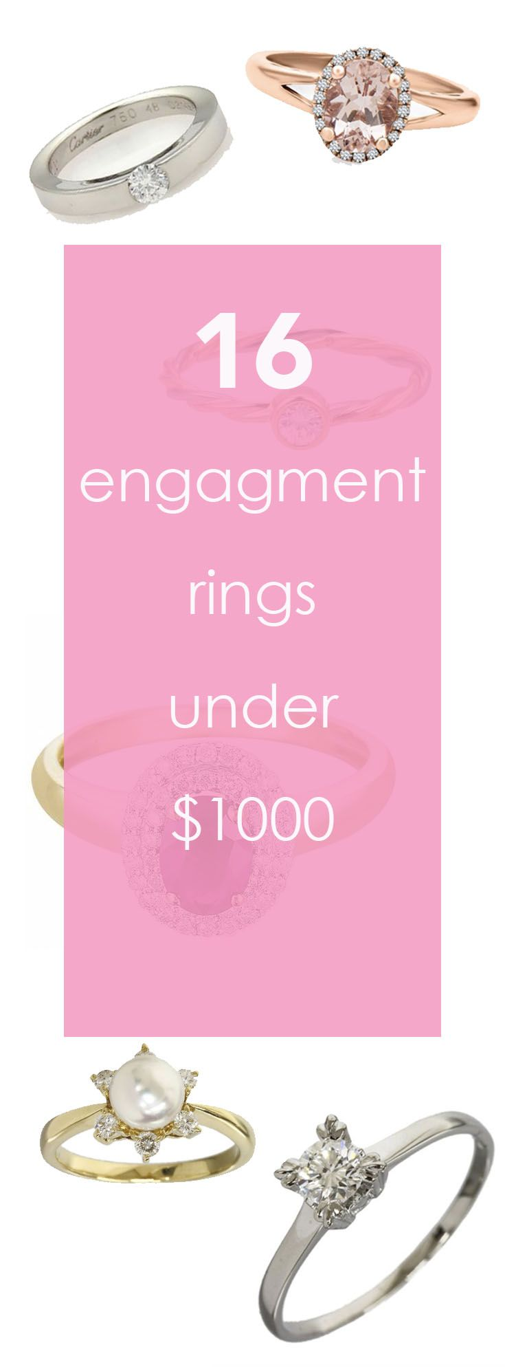 Here is how to get engagement rings for under a grand. Yes, really ...