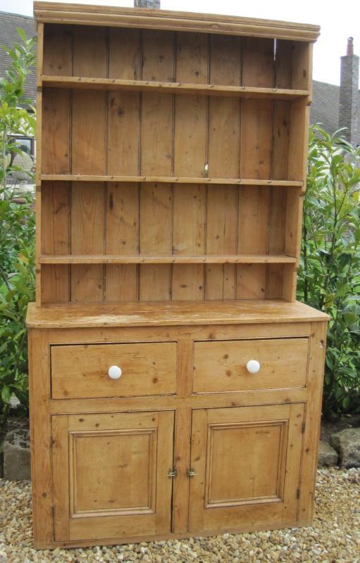 Salvoweb Antique Victorian Pine Dresser With Plate Rack Kitchen Dresser Pine Furniture Pine Dresser
