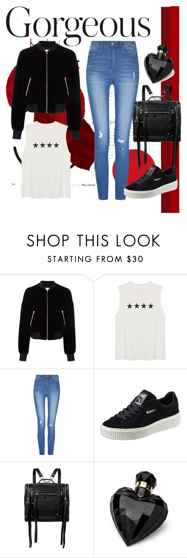 """""""Untitled #42"""" by smsofia on Polyvore featuring T By Alexander Wang, Puma, McQ by Alexander McQueen and Lipsy"""