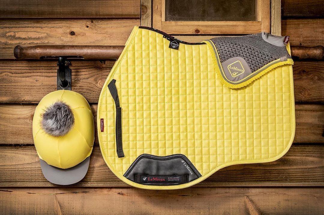 Horse Full English Saddle Pad Matching Fly Bonnet Ear Net Fly Veil Net 4.75 Flex Safety Stirrups Stainless Steel