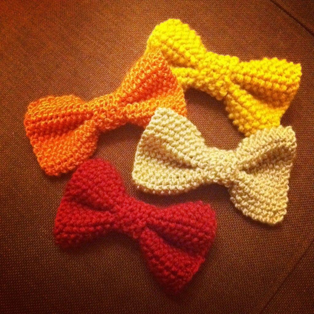 7fd19fb810f3 Lissou et les couleurs  DIY  tricoter des noeuds papillons   divers ...