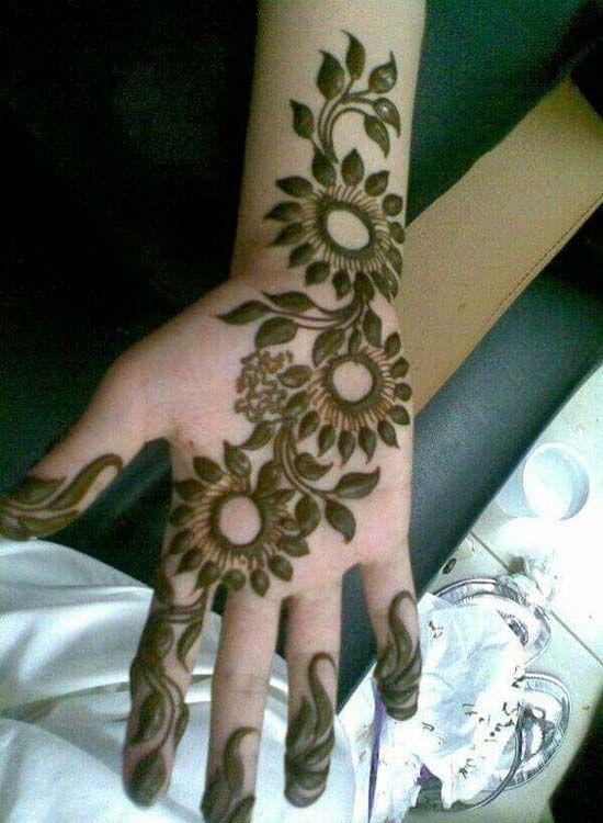 Simple Good Looking Hairstyle 2017 2018 Henna Designs Mehndi