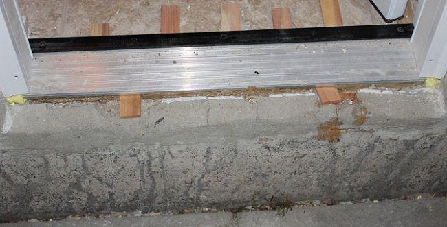Door Threshold For Concrete Floor Door Designs Plans