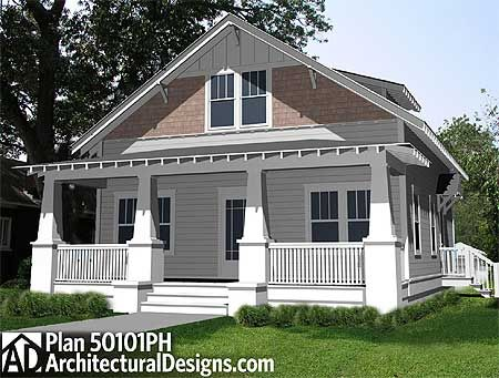 Plan 50101ph 3 Bedroom Arts Crafts Bungalow House Plan
