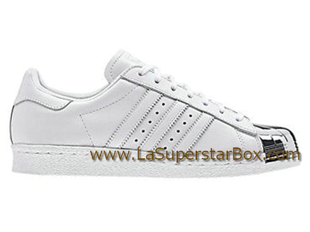 Adidas Originals Chaussures Homme/Femme Superstar 80s Metal Toe White Silver D67592 Officiel Adidas