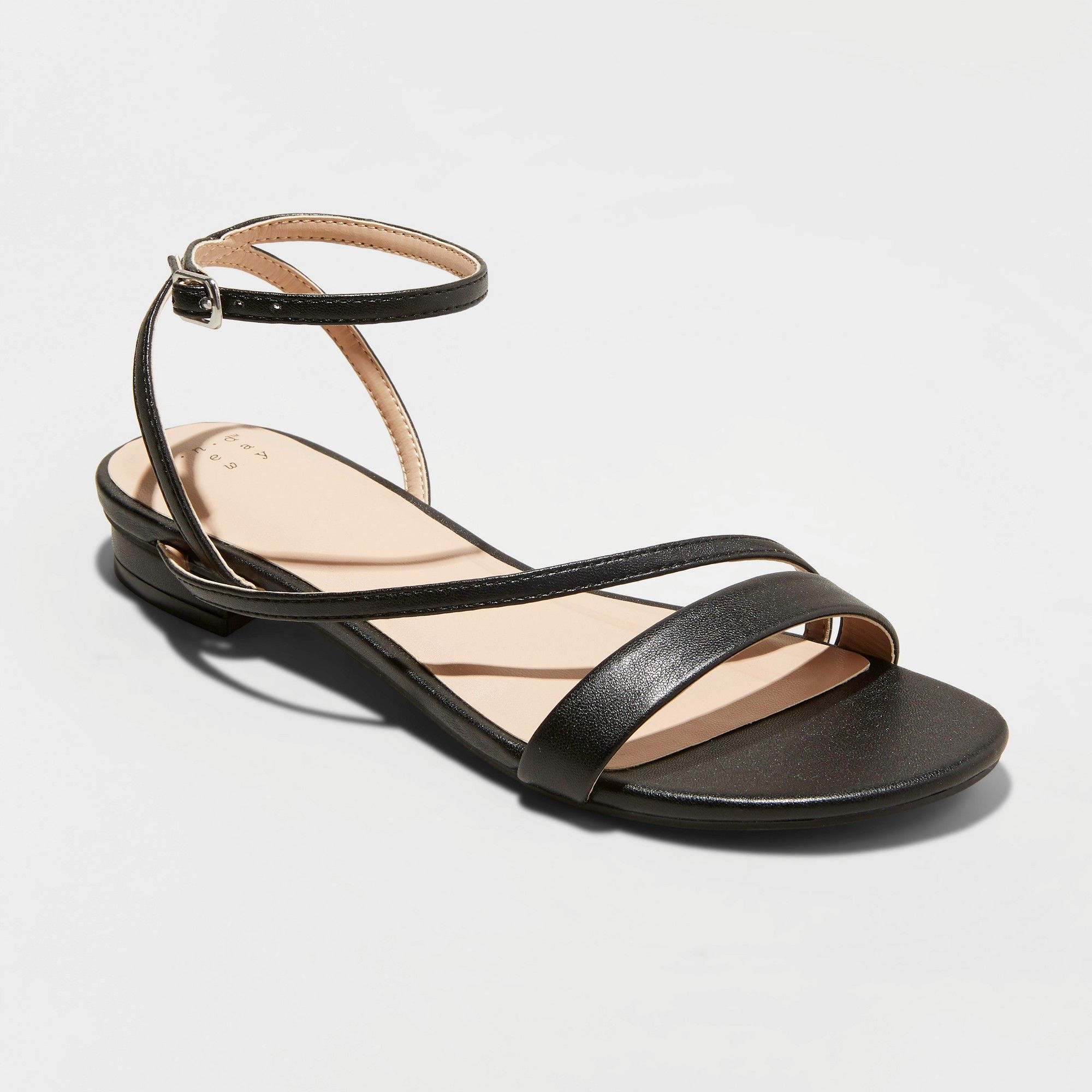 65d4bb8b09c5 Women s Fiona Crossband Platform Quarter Strap Sandals - A New Day Black  8.5