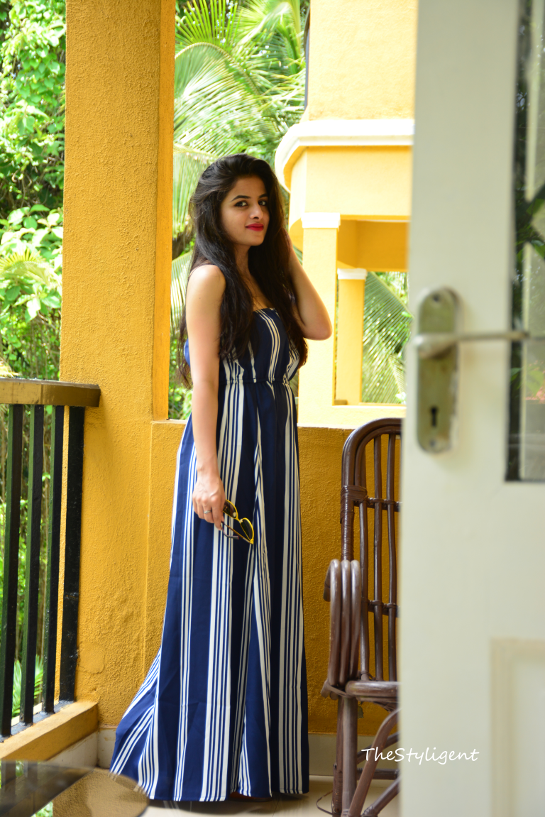 Wonderful Goa And What I Wore I Striped Maxi Dresses Beach Wear Dresses Black Dress Outfit Party