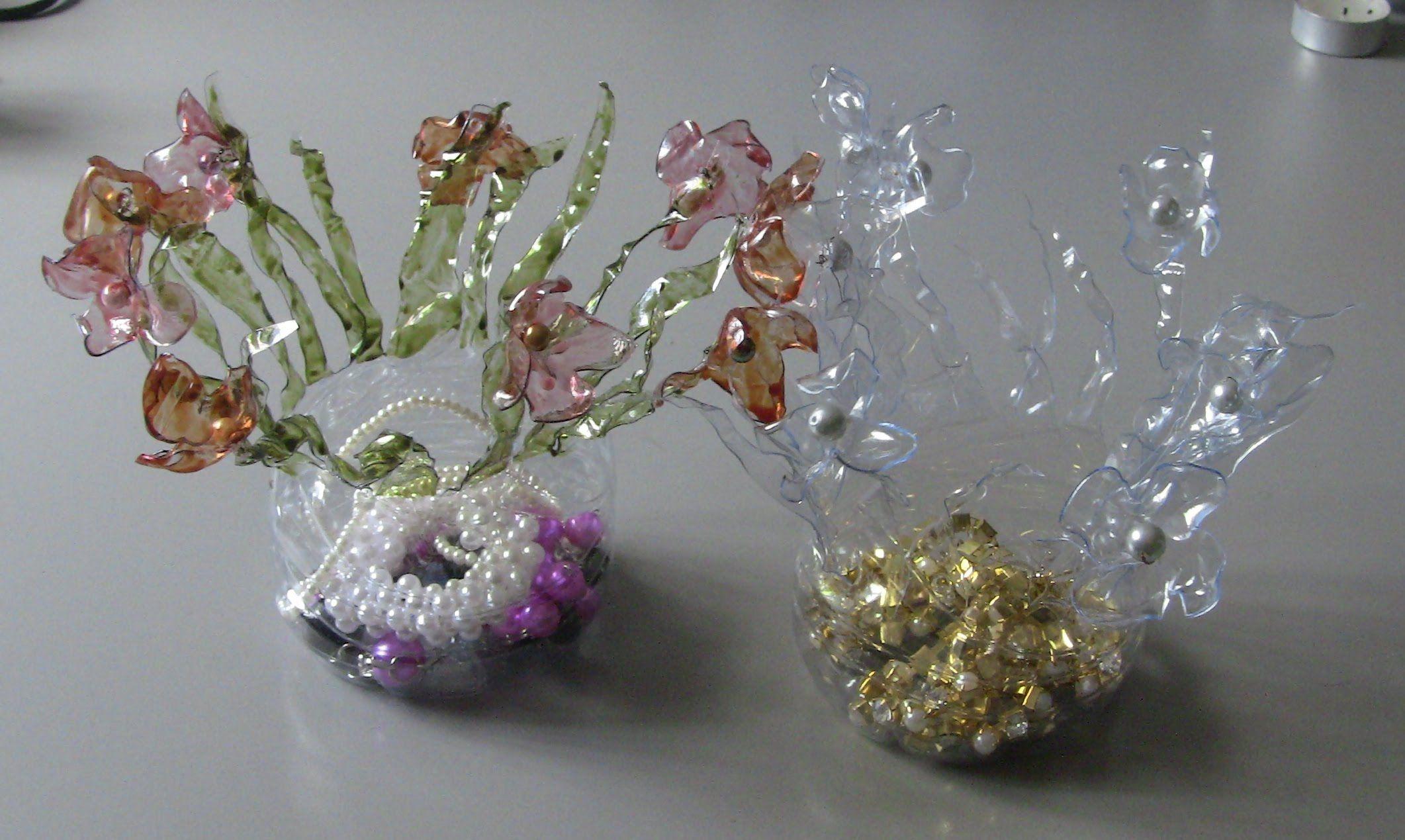 RECICLAGEM -Porta joias de garrafa pet
