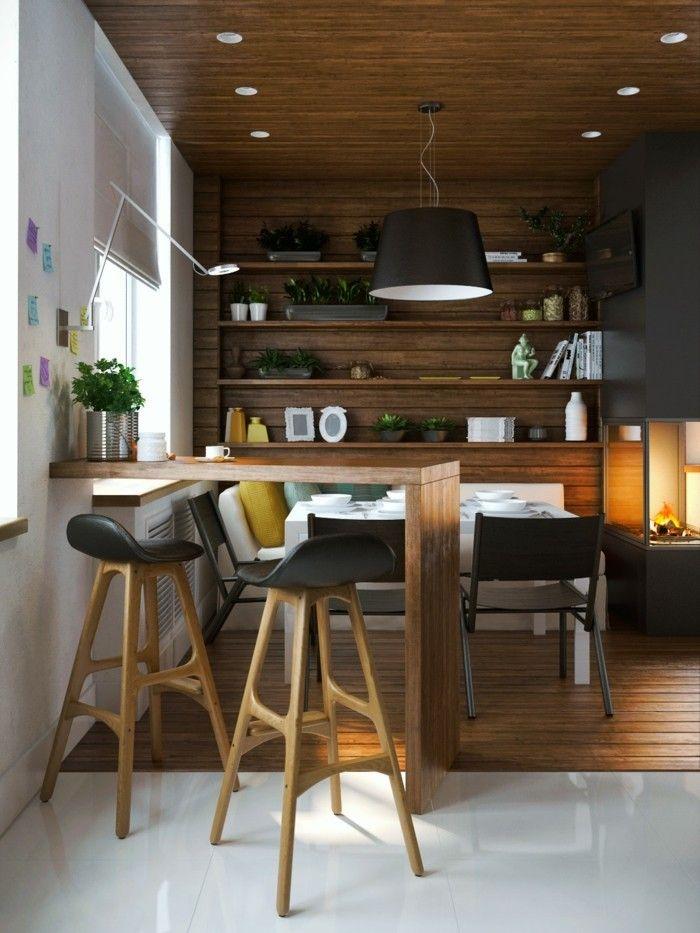 moderne wandgestaltung moderne küche essbereich Wandgestaltung - küchen wand deko
