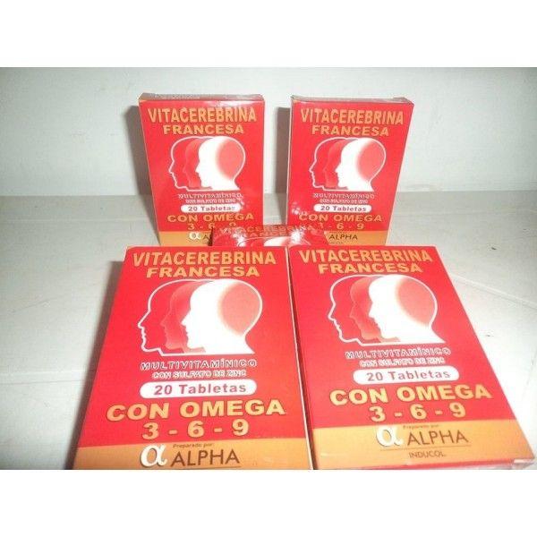 Vitacerebrina Francesa Multivitamínico con Omega 3 6 9 tratamiento para 2 meses. 3 cajas por 20 capsulas cada una - Melocompro Colombia