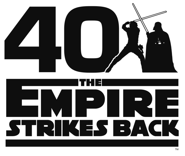 Star Wars The Empire Strikes Back 40th Anniversary Official Logo Empire Strike Star Wars Jedi Master