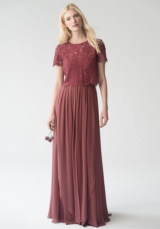 Jenny Yoo Collection (Maids) Kenzie Top {Cinnamon Rose} #L1761 Bateau  Bridesmaid