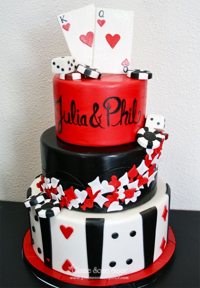 Vegas Themed Wedding Classic Las Vegas Themed Wedding Cake