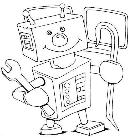 roboter ausmalbild 06 | Ausmalbilder | Pinterest | Roboter ...