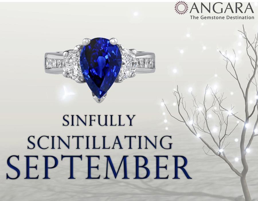 Sapphire Engagement Ring #Angara #Jewelry