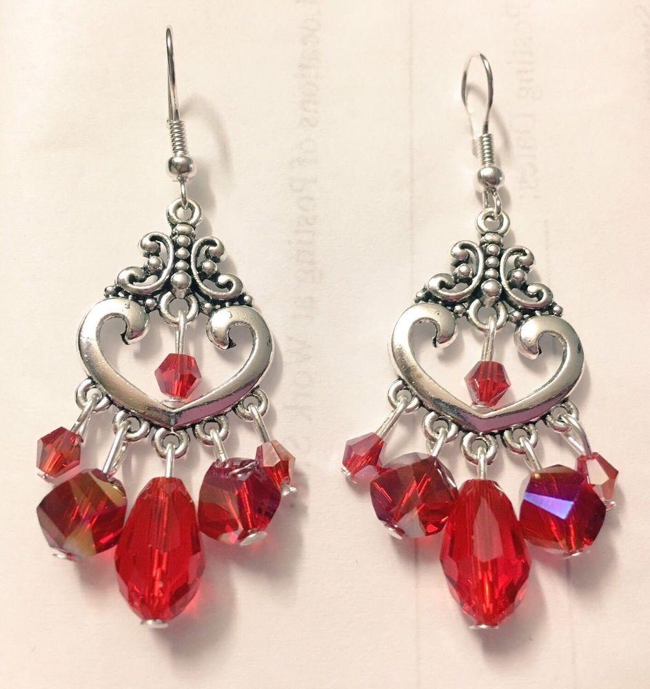 Red crystal chandelier earringsred heart teardrop chandelier red crystal chandelier earringsred heart teardrop chandelier earrings aloadofball Choice Image
